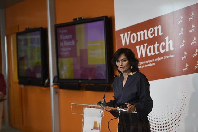 Carmen Calvo participa en la clausura del programa Women to Watch de PwC