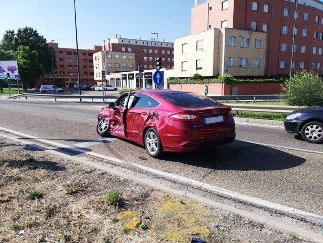 Estado de uno de los vehículos involucrados