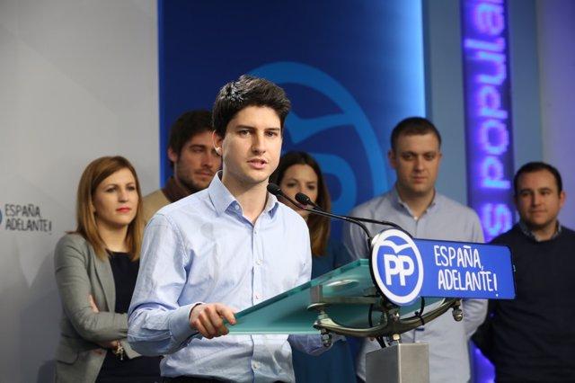 El candidato a la presidencia de Nuevas Generaciones del Partido Popular