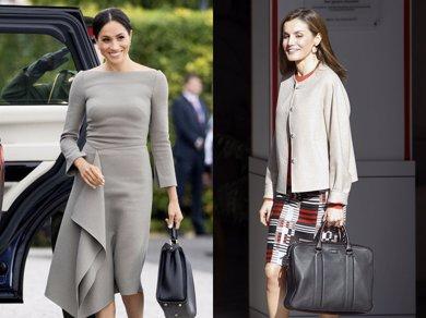 Foto: Letizia Ortiz y Meghan Markle se suman a la tendencia de los maletines (EUROPA PRESS)
