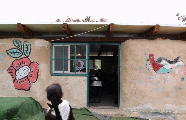 La escuela de la comunidad beduina de Jan al Ahmar, en Cisjordania