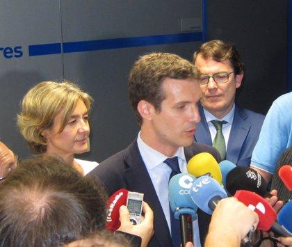"""Casado recalca que si él gana """"nadie pierde"""" y afirma que contaría con Sáenz de Santamaría y su equipo"""