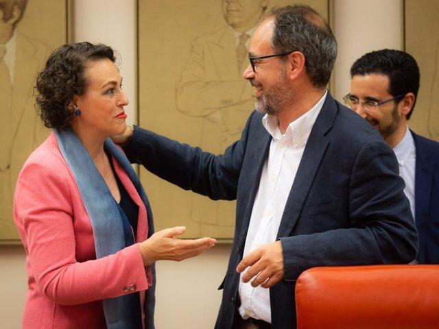 La ministra de Empleo, Migraciones y S Social, Magdalena Valerio, en el Congreso