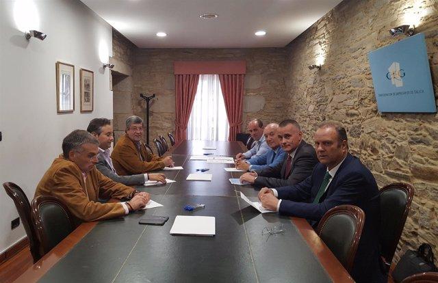 Los cuatro presidentes provinciales de la CEG en reunión