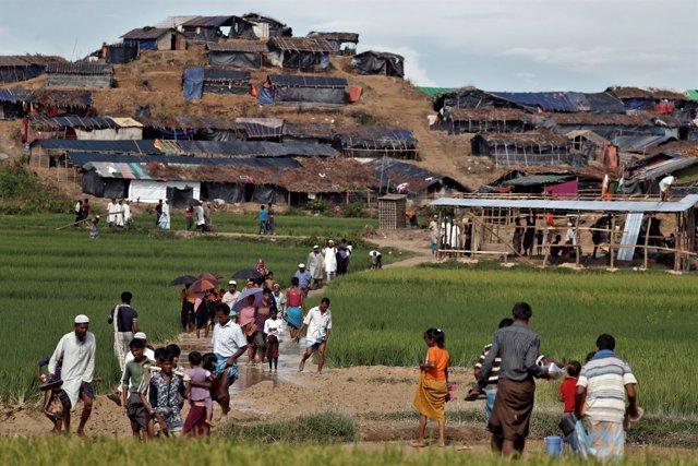 Uno de los campamentos rohingyas en Bangladesh