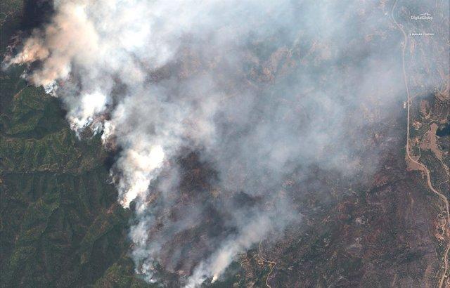 Vista aérea de Colorado durante el incendio forestal de junio.