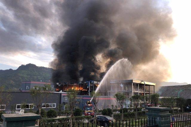 Se registra una explosión en una planta química en China
