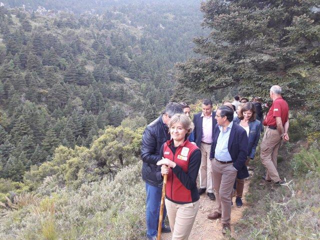 Isabel García Tejerina en Sierra de las Nieves