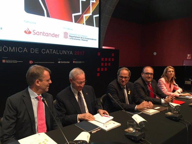 Oriol Amat, Miquel Valls, Quim Torrra, J. María Martínez y Carme Poveda