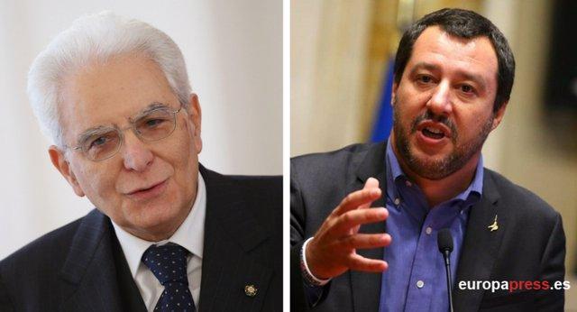 Mattarella y Salvini