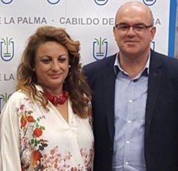 Cristina Valido y Anselmo Pestana