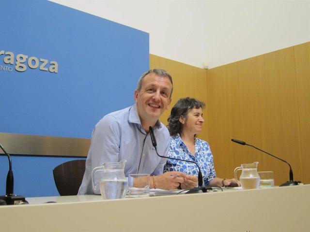 Fernando Rivarés y Luisa Broto, del equipo de gobireno de ZEC