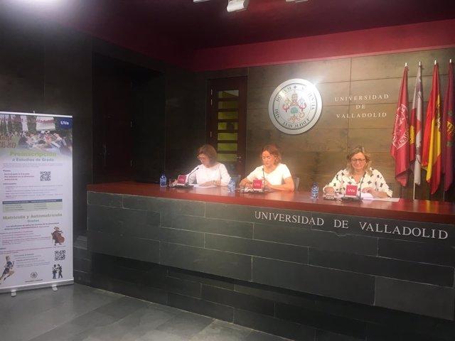 Valladolid.- Ángeles Sobaler, Carmen Vaquero y Julia Bachiller