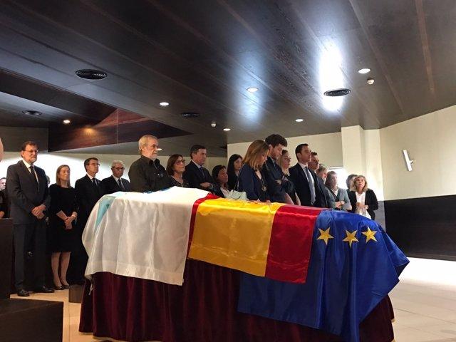 Funeral de Gerardo Fernández Albor en Santiago