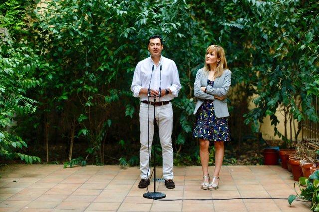 Reunión de Juanma Moreno y Carmen Castilla
