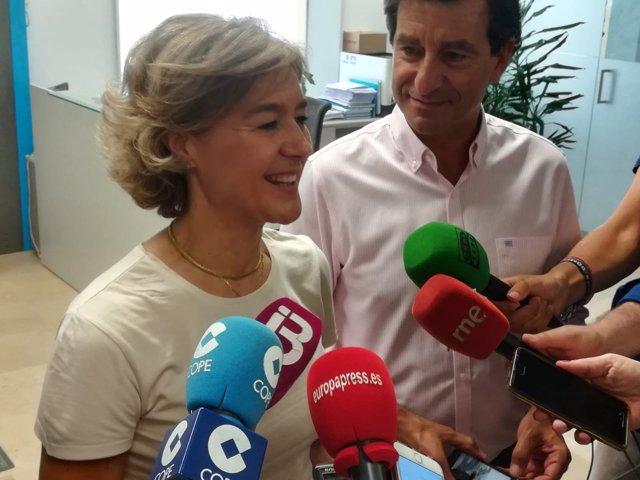 Isabel García Tejerina y Biel Company atienden a los medios