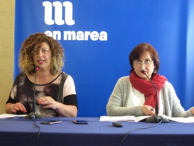 Ana Seijas e Victoria Esteban, portavoces da coordinadora de En Marea
