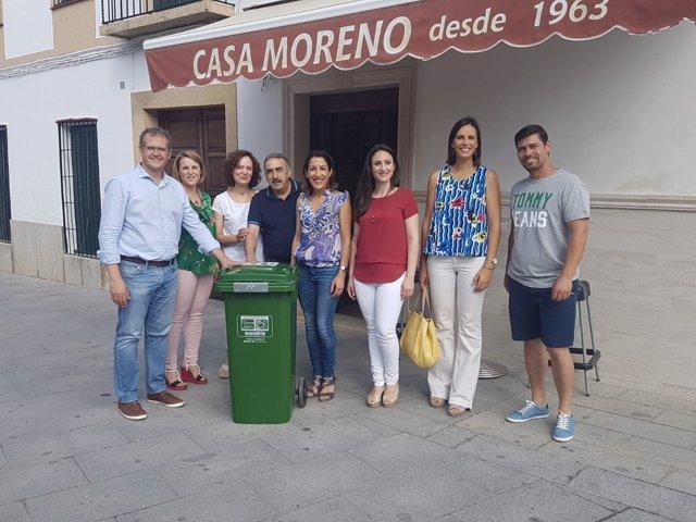 Pozuelo (centro), en la presentación en Castro del Río