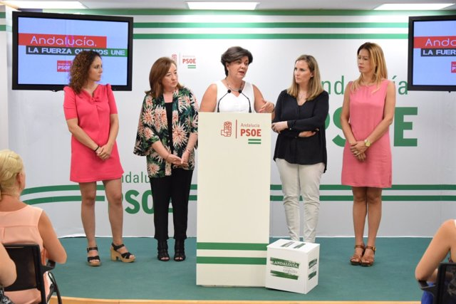 Fuensanta Lima (PSOE) en rueda de prensa