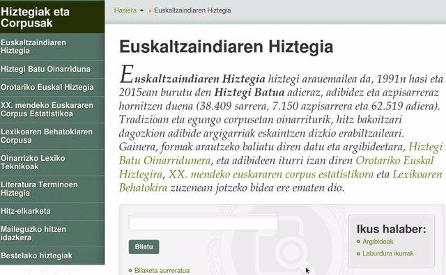 Euskaltzaindiaren Hiztegia, sarean