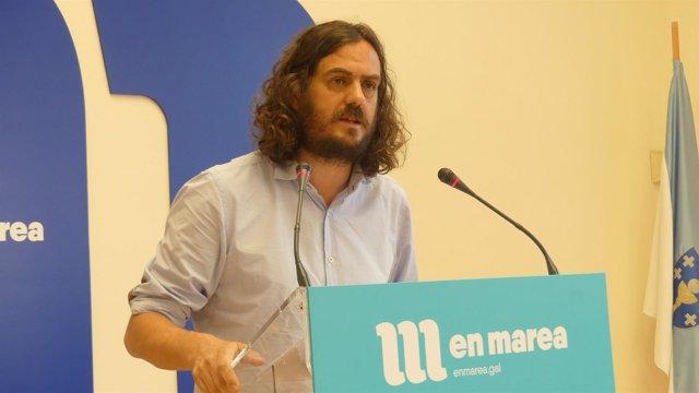 El diputado de En Marea y portavoz nacional de Anova, Antón Sánchez