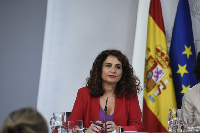 Roda de premsa de la ministra d'Hisenda, María Jesús Montero