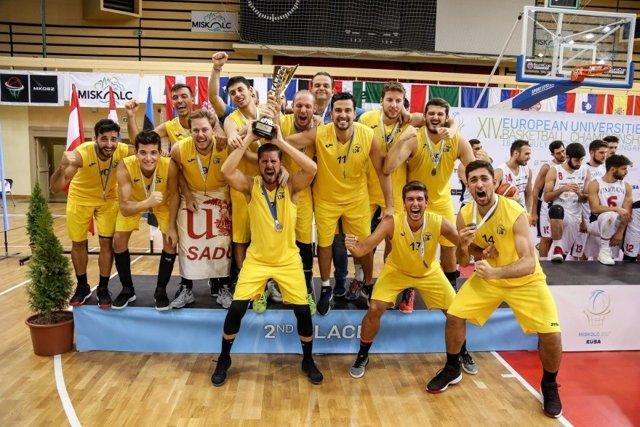 Equipo de baloncesto de la Universidad de Sevilla.