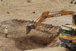 Trabajos de otra búsqueda de la fosa en Alfacar