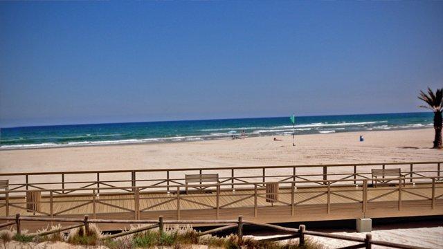 Playa de Gandia en una imagen de archivo