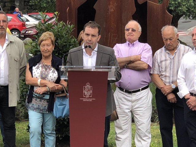 Juan Carlos Abascal, en el homenaje a Miguel Ángel Blanco y Sotero Mazo