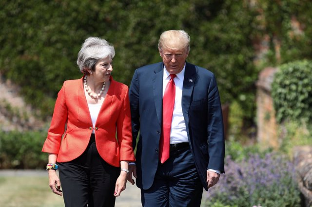 Theresa May y Donald Trump en Chequers