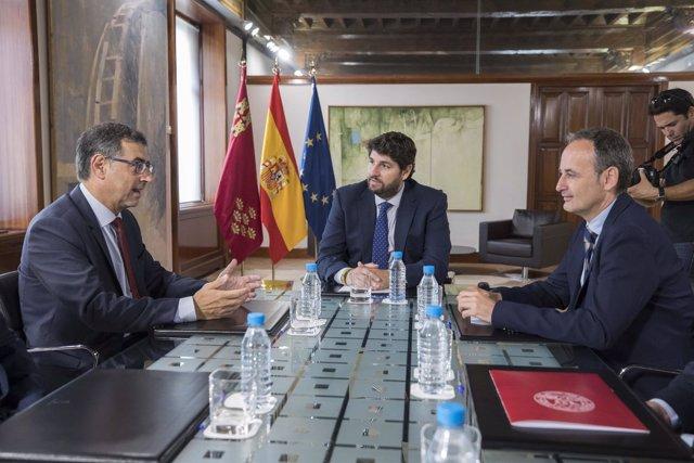 Reunión de López Miras y los rectores de las universidades públicas