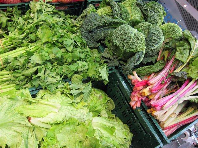Apio, lechuga, col, acelgas, verdura, hortalizas, supermercado, consumo, IPC