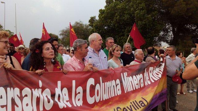 Acto homenaje a 'La columna Minera de Riotinto'