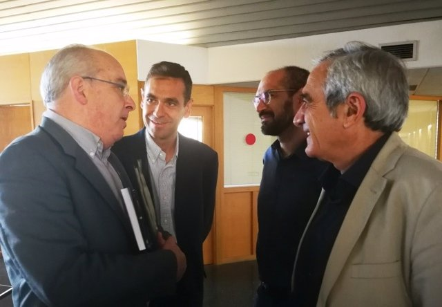 Josep Bargalló, Ignasi Giménez, Maties Serracant y Alfredo Vega