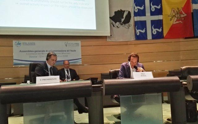 Marc Pons en la comisión de islas de la UE