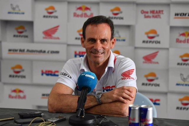 Alberto Puig durante una rueda de prensa