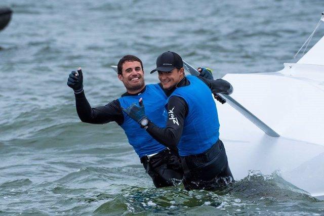 Diego Botín y Iago López-Marra, campeones de Europa de vela 49er