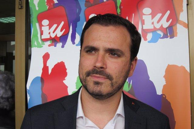 Alberto Garzón, líder de IU, en una imagen de archivo