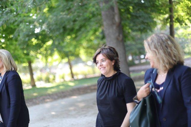 Soraya Sáenz de Santamaría en campaña por liderar el PP