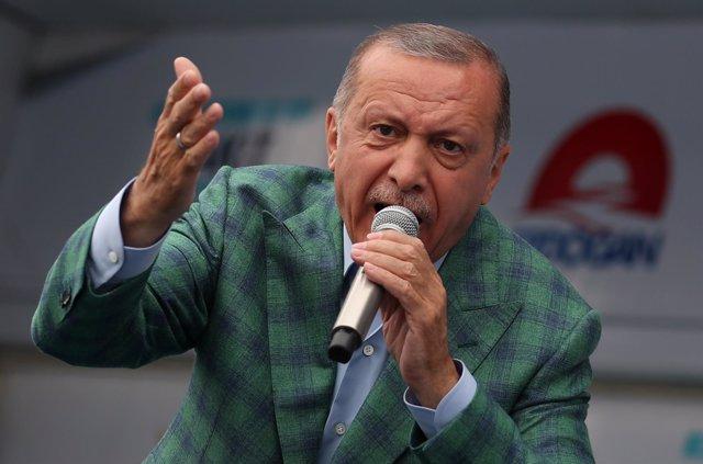 El presidente turco, Recep Tayyip Erdogan, en Estambul