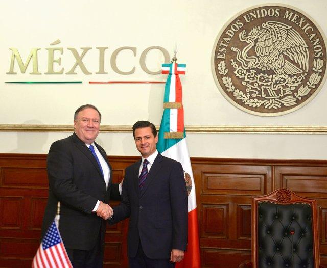 Mike Pompeo y Enrique Peña Nieto