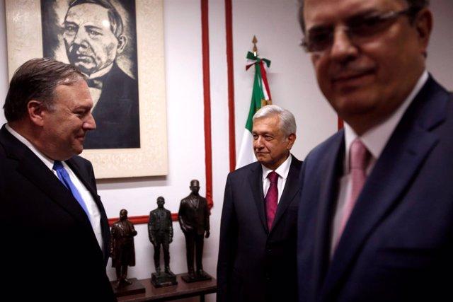 Mike Pompeo y Andrés Manuel López Obrador