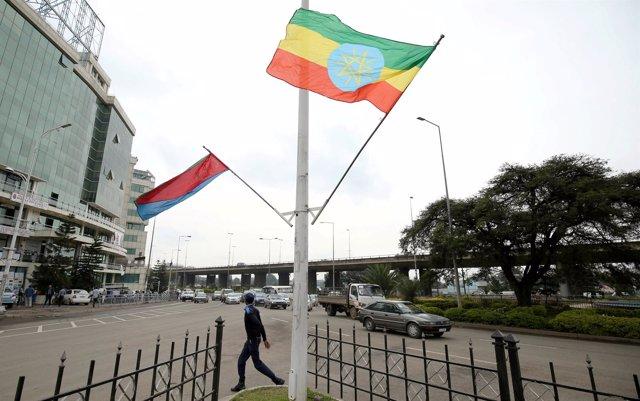 Banderas de Etiopía y Eritrea