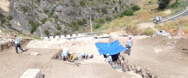 Excavaciones de las Termas Romanas en Valeria (Cuenca)
