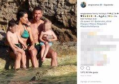 Pilar Rubio y Sergio Ramos disfrutan de sus vacaciones en...
