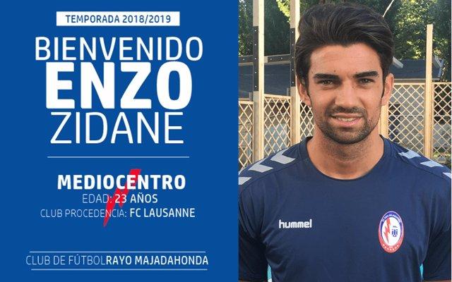 Enzo Zidane, cedido un año al Rayo Majadahonda