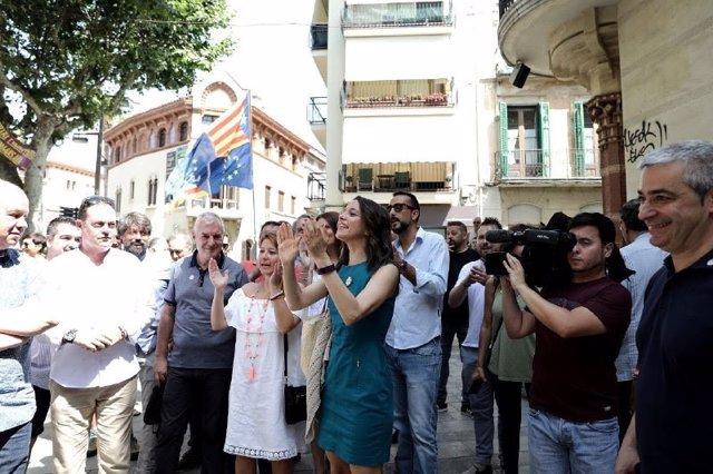 La líder de Cs en Catalunya, Inés Arrimadas, en Canet de Mar