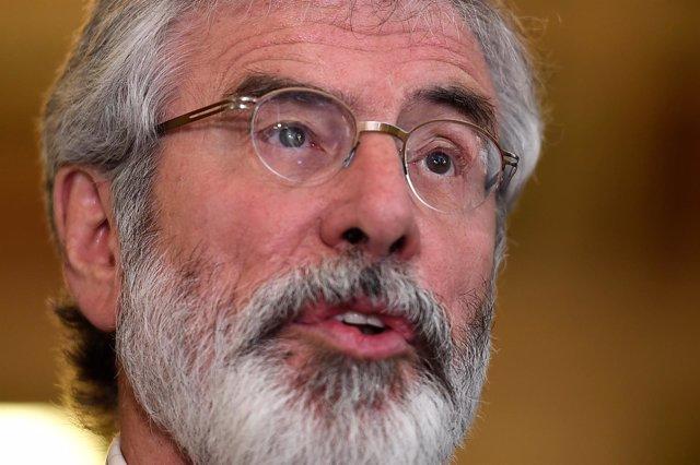 El presidente del Sinn Féin, Gerry Adams