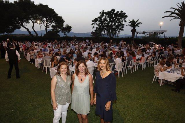 Armengol en la cena de verano de los Socialistas de Mallorca